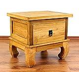 Java Opiumtisch aus Teakholz | Beistelltisch aus Massivholz | Nachttisch der Marke Asia Wohnstudio | Nachtschrank | Kommode
