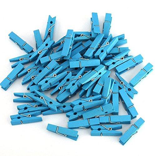Leisial 50 Pièces Pinces à linge clip en Bois Papier Photo vêtements Pinces Maison Décoration