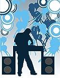 INDIGOS UG - Wandtattoo / Wandaufkleber bunt farbig MD205 cooler DJ 150 x 115 cm
