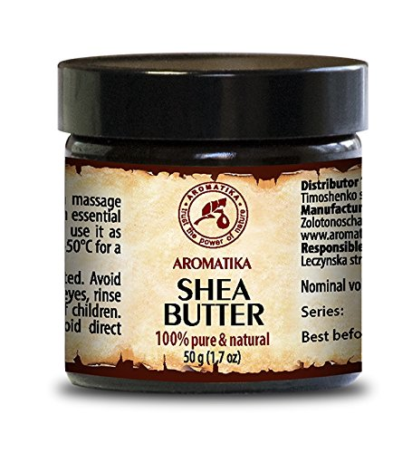 Burro di karité raffinato 100 gr - 100% puro e naturale, non diluito - il viso, il cuoio capelluto e il corpo anti-settico, antirughe, bellezza, aromaterapia, massaggi, Crema, sapone di AROMATIKA