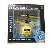 Gusspower RC Fliegender Ball, Infrarot Induktion Hand Mini Fliegen Emoji Drone Flugzeug Hubschrauber, Elektrische Micro Flugzeuge Geschenk für Kinder Spielzeug (A)