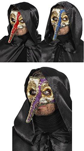 Kostüm Zubehör Venezianische Maske mit langer Nase Karneval (Nase Kostüm Maske Lange Venezianische)