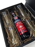 Ramazzotti Set / Geschenkset - Ramazzotti Amaro Milano 70cl (30% Vol) + 4 Ramazzotti Gläser