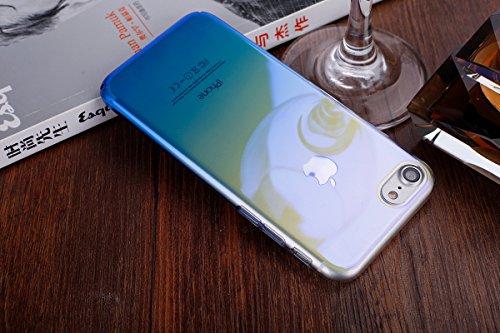 iPhone 7 Custodia, iPhone 7 Cover, iPhone 7 4.7 Custodia Silicone, JAWSEU Moda Stile Lusso Cristallo di Bling Brillante Sparkle Glitter Custodia per iPhone 7 Back Cover Case Ultra Sottile Flessibile G Gradiente Blu
