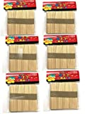 #9: Red Rock Ice Cream Sticks 300 Pcs Wooden Ice Cream Sticks Popsicle Sticks (Pack of 300 Pcs)