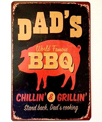 Harrington marley targhetta in metallo da parete, in stile retrò, per la cucina, barbecue, regalo per la festa del papà