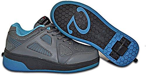 Elara Damen Herren Kinder Rollschuhe Sportschuhe Schuhe mit Rollen Laufschuhe Runners Sneakers Grau