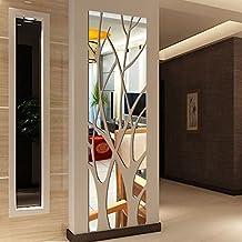 ZEZKT Home 3D Spiegel Wandaufkleber Aufkleber Wohnkultur DIY Wall Stickers,  Wandaufkleber Spiegel Spiegel Für