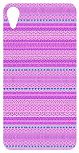 Pink Tribal Pattern Back Cover Case for HTC Desire 820