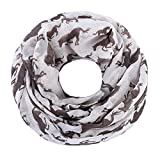 ZQY Damen Sommer Loop Schal Schlauchschal Halstuch mit Pferd horse Muster Design