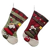 2er Pack Weihnachten Stiefel Dekoration (Schneemann + Sankt)
