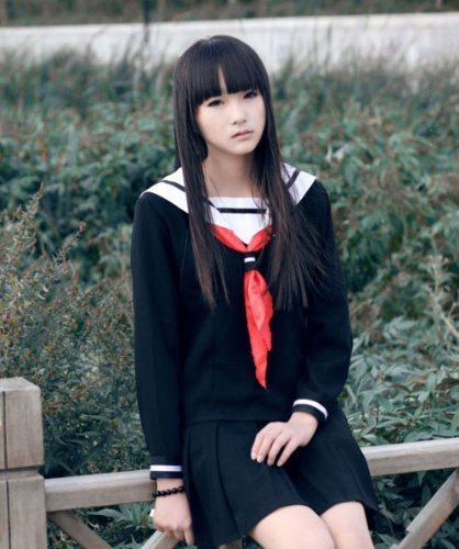 Enma Ai Hell Girl cosplay costume sailor uniform -