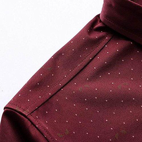 A Maniche Lunghe Camicia Da Uomo Di Grandi Dimensioni Uomini Casuali Della Camicia Red