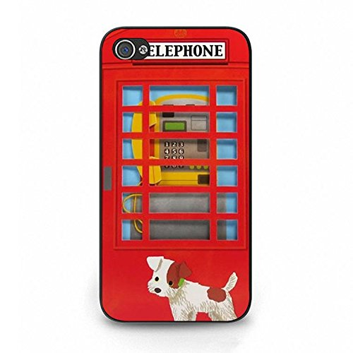 Iphone 4/4s Case,Novelty Exquisite British Phone Booth Phone Case Cover for Iphone 4/4s Phone Booth Shell Cover Color112d