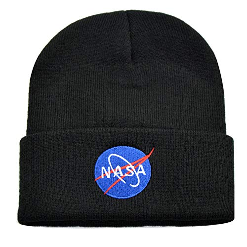ZBSPORT Damen und Herren NASA Basic Hat Winter Strickmütze Unisex Beanie Mütze