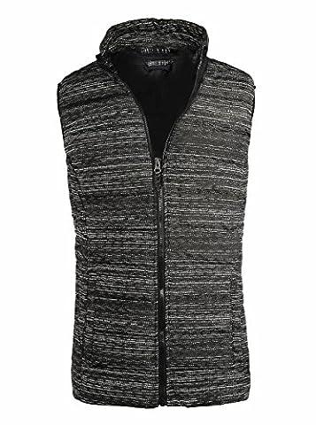 SeaDee - Manteau sans manche - Veste damassée - Homme - - US L/étiquette 58/60