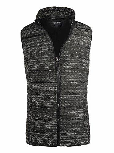 SeaDee Herren Steppjacke Weste Gr. US XL/Etikette 50/52, schwarz/weiß (Parka Down Goose Hooded)