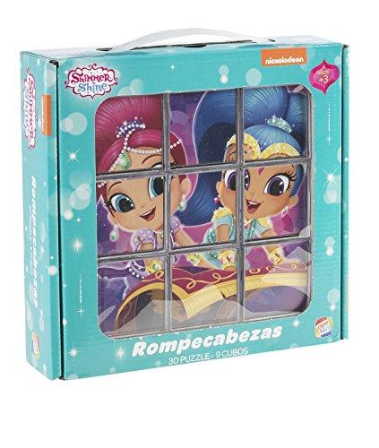 Shimmer And Shine- Disney Rompecabezas de 9 Cubos