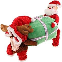 Gazechimp Ropa Disfraz de Navidad para Perros Suéter para Mascotas Tema de Navidad Sauve Cómodo - L