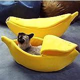 huichang Perros Gato Cama algodón Plátano Pet Cama cojín para Perros Gatos Mascotas Cama