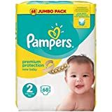 Pampers New Baby Taille 2 mini 3-6 Kg JUMBO PACK 68 couches