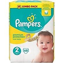 Pampers New Baby Taglia 2Mini, 3–6kg Jumbo pack 68strati