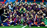 BARCELONA FC – Champions League Winners 2015 - Football Wall Poster Print - 30CM X 43CM Brand New F.C Messi