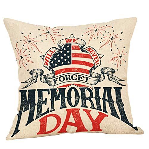 OPAKY Happy Independence Day Kissenbezüge Sofa Kissenbezug Home Decor Kissenbezug