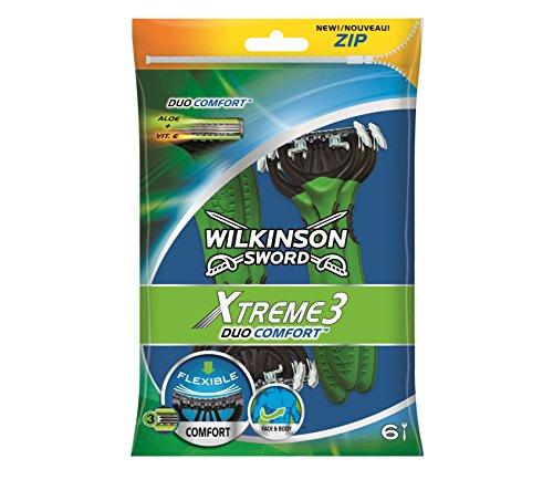 Wilkinson Sword Xtreme Nummer 3Duo Einweg Rasierer für Männer, 6Stück -