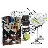 Ballon Gin Gläser & Gin Cocktail Recipe Book Geschenk Set von Flow Barartikel, Geschenkverpackung, G & T Set