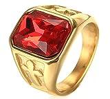 XiDDEE Enormes magníficas Precious Cross Anillos Plateados Acero Inoxidable de Oro de Piedra para Mujer para Hombre