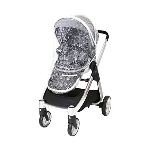 Marvel 2in1 Pram - Dove Grey (+ x2 Footmuff + x1 Car Seat Raincover) iSafe Includes Free Carseat Raincover + Carseat Footmuff + Stroller Footmuff Complete With Free Raincover For Seat Unit Complete With Free Boot Cover 2