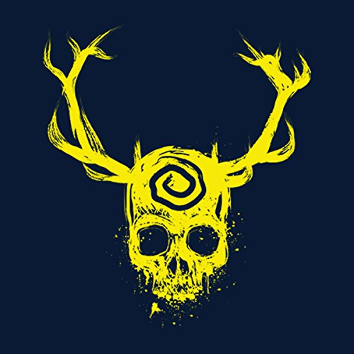 True Detective Yellow King Women's T-Shirt Navy Blue