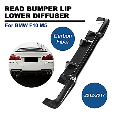 Rear Bumper Diffuser TGFOF Carbon Fiber Low Spoiler Valance Extention
