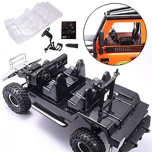 Preisvergleich Produktbild Simulationsauto-Innendekorationsteile für Land Rover Traxxas TRX-4 Land Rover Defender D110 Simulations-Innenraum für Innenraumklettern,  transparenter Innenraum