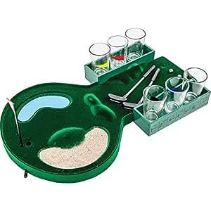 Maxam Drinking Golf Game W 6 Glasses