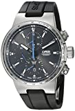 Oris Men's 'Williams F1' Swiss Automatic Stainless Steel and Rubber Casual Watch, Color:Black (Model: 77477174154RS)