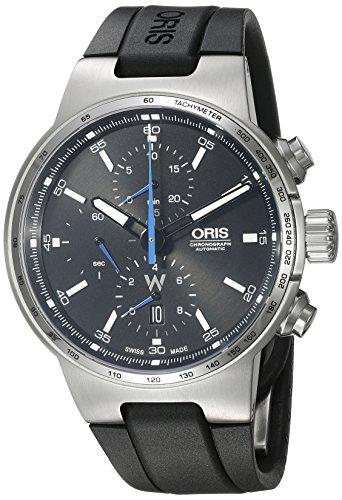 Oris Williams F1de los hombres de 'Swiss automático acero inoxidable y goma reloj Casual, color: negro (modelo: 77477174154rs)