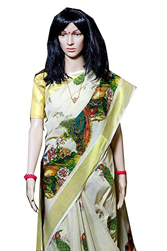 SBE Women's Tissue Saree (610_White)