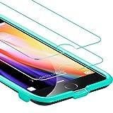 ESR Pellicola Protettiva per iPhone 8/7 [2 Packs][Kit d'Installazione Gratis], Vetro Temperato [Anti-Graffo/Olio/Impronta] con 9H Durezza Protezione Elevata per iPhone 8/7(2017) da 4.7 Pollici