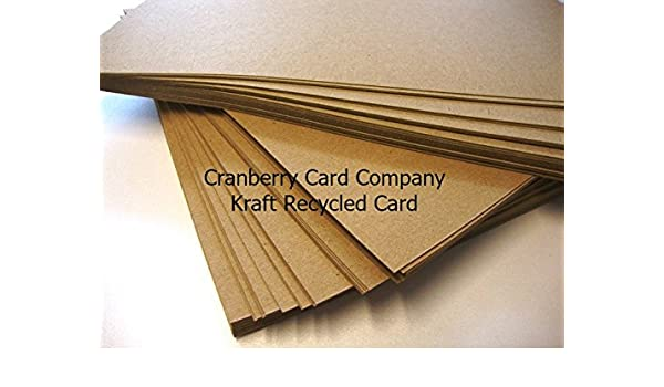 A6 Kraft Recycled Postcard 280gsm by Cranberry 100 Pack
