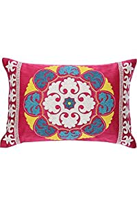 IVY - Decorative Cushion Cover (12 X 18 Inches) - Pink
