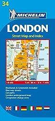 Michelin London: Stadtplan 1:8.000: Street Map and Index (Michelin Localkarte)