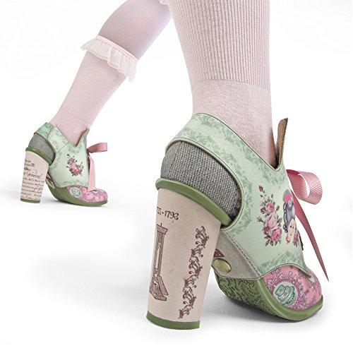 Hot Chocolate Design Chocolaticas Marie Antoinette Ballerines Mary Jane talons hauts escarpins pour femmes Multicolore