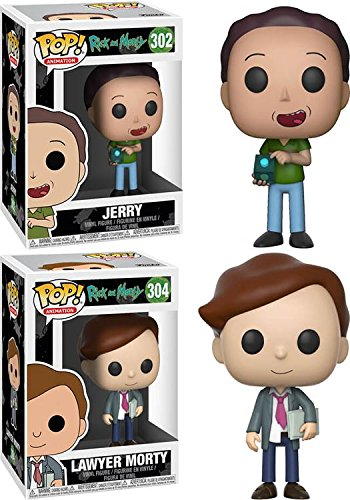 Funko POP! Rick & Morty: Jerry + Lawyer Morty – Stylized Vinyl Figur