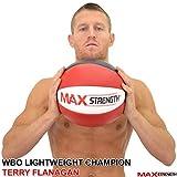 MAXSTRENGTH ® 3kg/5kg/8kg/10kg/12kg/15kg Heavy Duty Leather Medicine Ball Fitness Gym Exercise.