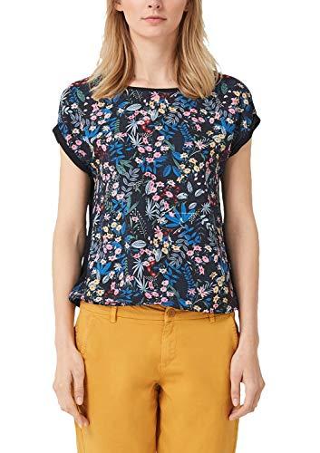 Print T-shirt (s.Oliver Damen 04.899.32.5315 T-Shirt, Blau (Blue Floral Print 59c8), (Herstellergröße: 38))