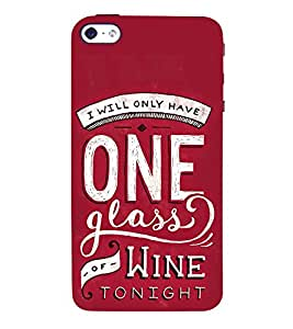One Glass of Wine Tonight 3D Hard Polycarbonate Designer Back Case Cover for Apple iPhone 4S