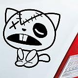 Voiture Autocollants dans votre Désir couleur Comic chat animaux Cat Fun Amusant Freak 10x 11cm Autocollant pour voiture Stickers Écran