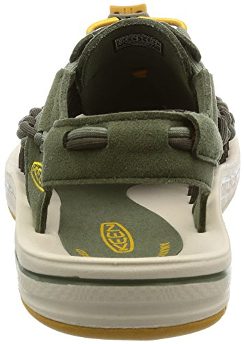 Keen Uneek M Deep, Scarpe da Camminata Uomo Multicolore (Lichen/Golden Yellow)